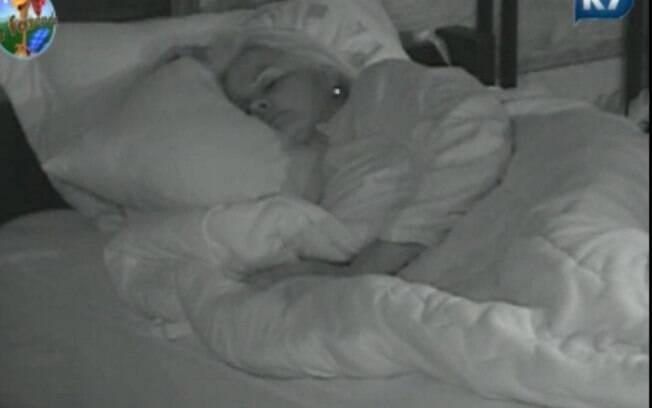 Monique Evans foi a última peoa a dormir