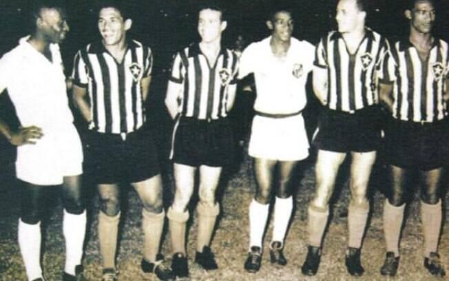 Da direita para esquerda, Pelé, Garrincha e  Zagallo