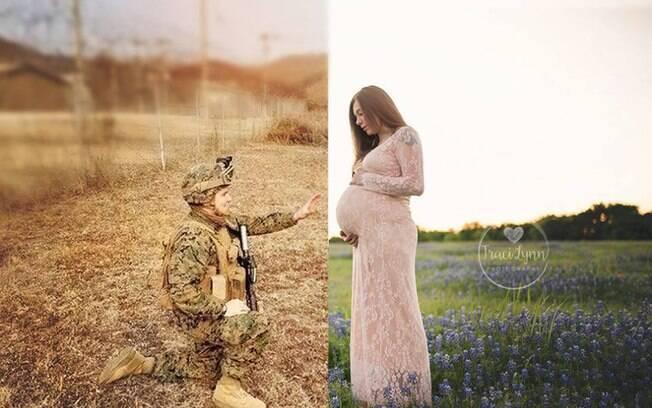 O ensaio fotográfico foi clicado com o objetivo de aproximar o casal que estava mais de 11 mil quilômetros de distância