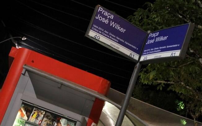 José Wilker vira nome de praça no Projac