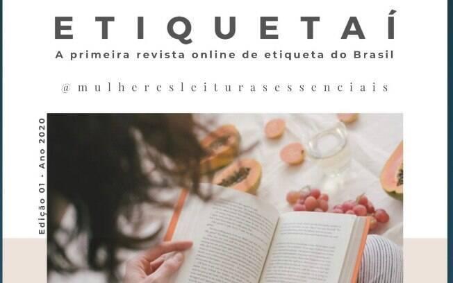 Capa da revista Etiquetaí, lançada dia 26/10
