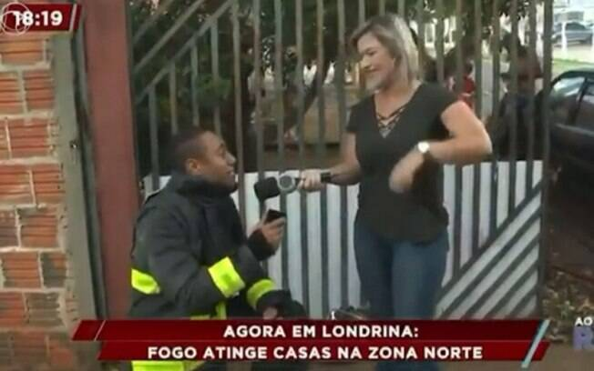 Jornalista da Record e bombeiro