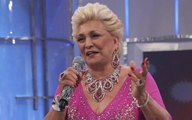 Hebe Camargo em seu último programa na emissora de Sílvio Santos