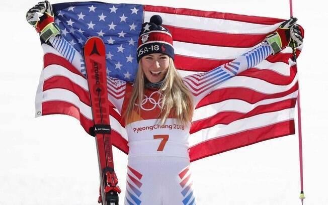 Mikaela Shiffrin, atleta norte-americana de esqui-alpino