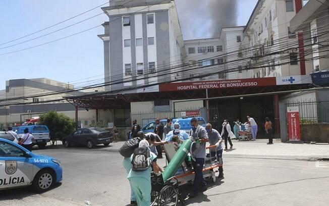 Hospital Federal de Bonsucesso foi atingido por incêndio na terça-feira (27)