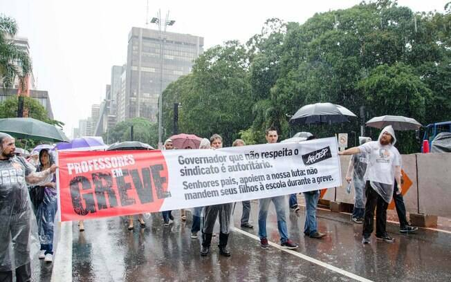 Protesto dos professores da Rede Estadual de SP, na Avenida Paulista, em São Paulo (20.03.15)