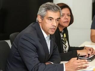 Presidente da BMW do Brasil, Helder Boavida, durante entrevista coletiva com a imprensa no escritório da marca, em São Paulo