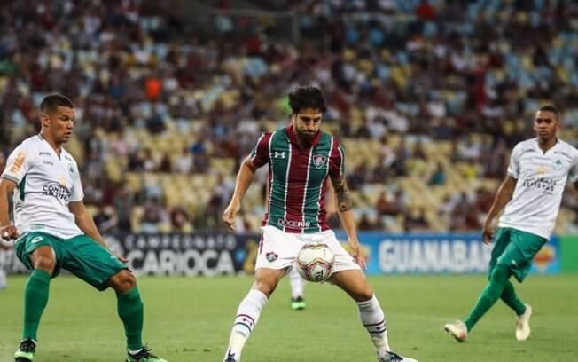 Hudson em ação pelo Fluminense contra o Boa Vista
