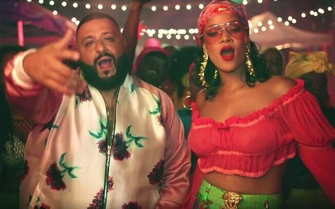 DJ Khaled e Rihanna no clipe da parceria Wild Thoughts, um dos grandes hits do produtor
