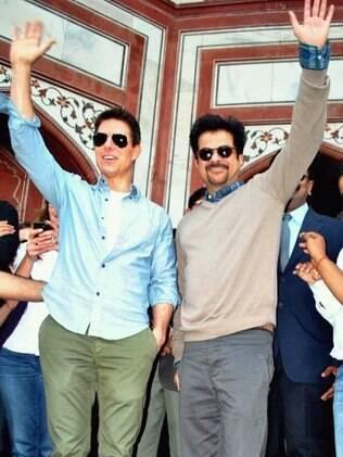 Tom Cruise e Anil Kapoor divulgam filme na Índia