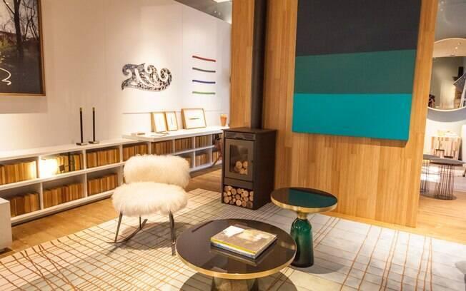 O ambiente Lagom, criado por Patricia Martinez, ganhou forro e piso de bambu. Patricia escolheu o material por ser uma opção que alia estética e sustentabilidade