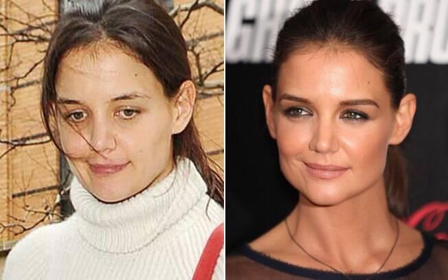 Katie Holmes fica muito diferente sem make?
