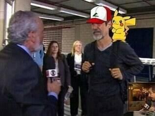 A postura de Eduardo Jorge também virou brincadeira dos internautas, que acabaram o comparando com o personagem Ash, de 'Pokemon'