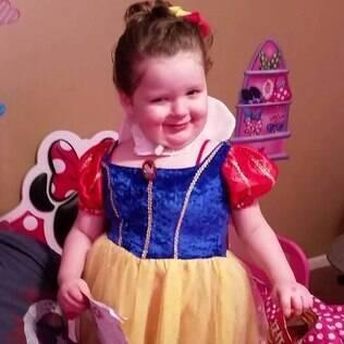 Alayna Jacobs pode não chegar aos dez anos de idade por conta da doença, afirmam os médicos