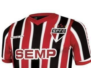 Camisa nº 2 do São Paulo. Simplicidade marca o modelo fabricado pela Penalty