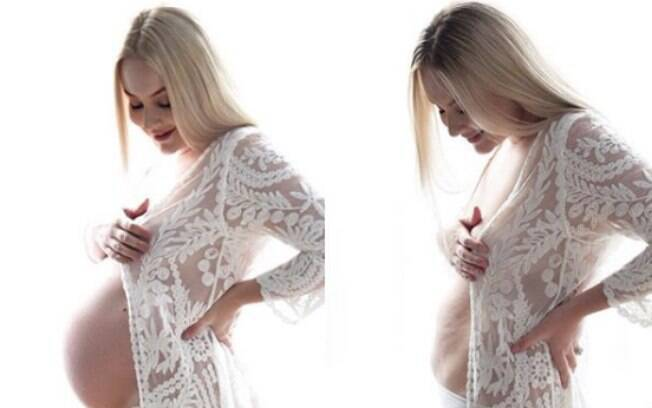 Tahlia sabe que a barriga do pós-parto gera a curiosidade de muita gente, então decidiu compartilhar experiência