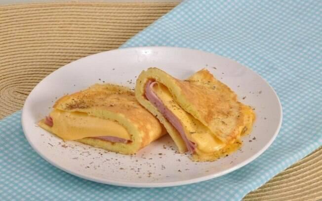 Omelete misto-quente fácil pronto em 20 minutos