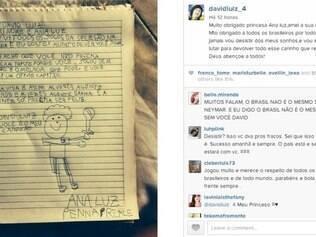 Febre entre as crianças, David Luiz dá show de simpatia e agradece fã