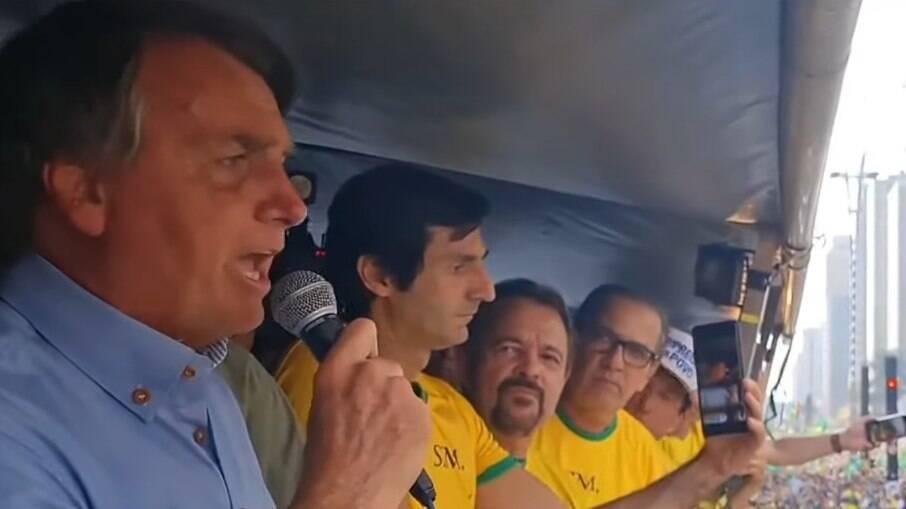 Bolsonaro discursou na Av. Paulista