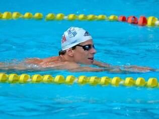 Cielo, porém, não conseguiu atingir a meta de nadar os 100 metros na casa dos 45 segundos
