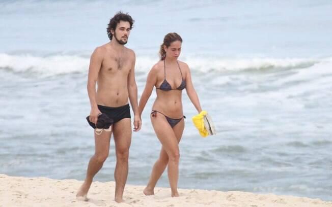 Paloma Duarte e Bruno Ferrari aproveitaram a tarde desta terça-feira (22)