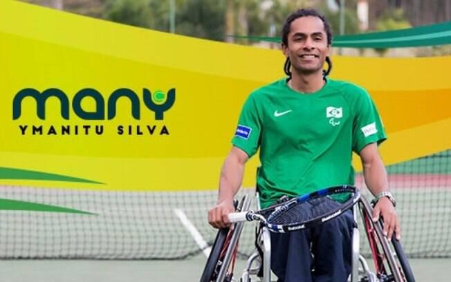 Many Silva, vai representar o Brasil no Rio 2016 em sua estreia em Jogos Paralímpicos, na categoria quad do tênis