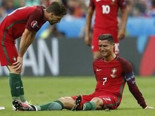 Cristiano Ronaldo chorou após a lesão