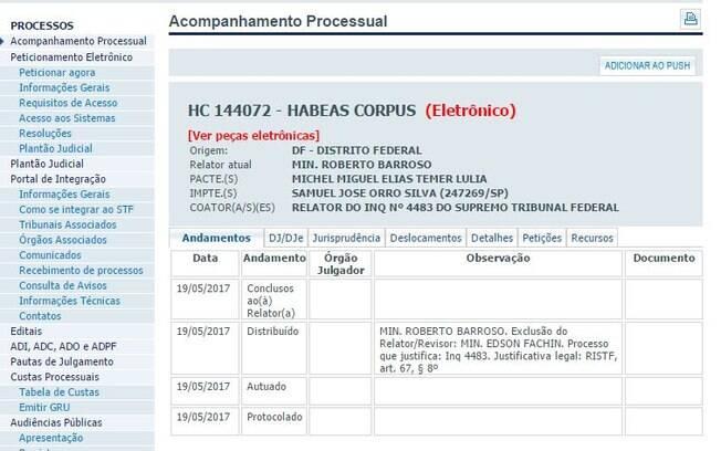 Planalto diz que o pedido feito por advogado não partiu do presidente Michel Temer