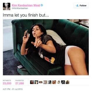 Kim Kardashian deu uma zoadinha de leve em Taylor Swift