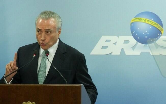 Michel Temer fez pronunciamento no em Brasília; hoje, o Ibope o avaliou como o presidente menos popular da história