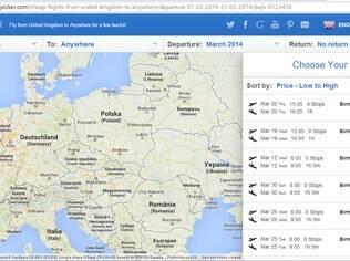 O Skypicker é a melhor opção para voos low-cost na Europa
