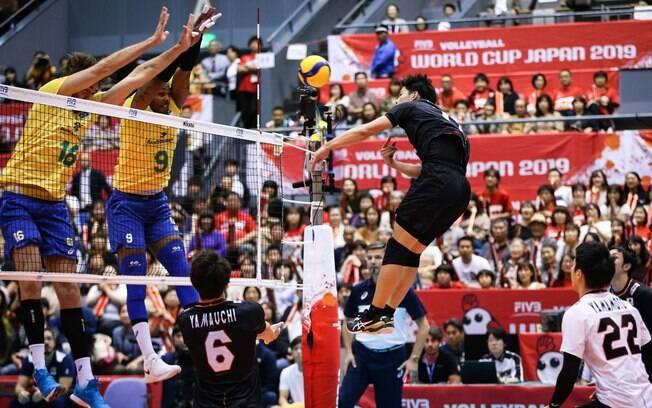 Brasil venceu o Japão na Copa do Mundo de vôlei