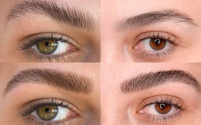 Com a pigmentação, as mulheres poderão ter o aspecto de sobrancelhas cheias e laminadas por até um ano