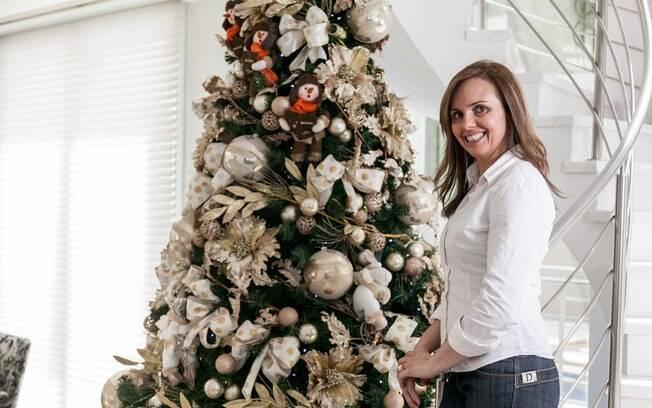 decoracao de natal para interiores de casas : decoracao de natal para interiores de casas: pela decoração de Natal na casa de Vanessa. Foto: Edu Cesar