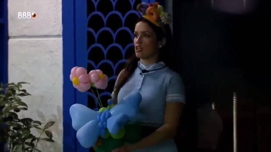 Juliette tentou levar a decoração para a festa