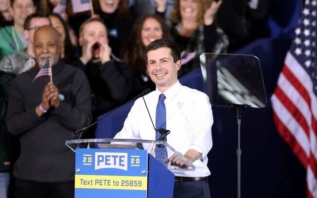 Pete Buttigieg foi um dos mais bem votados em Iowa