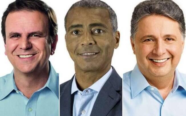 Eduardo Paes (DEM), Romário Faria (Podemos) e Anthony Garotinho (PRP) são os principais candidatos a governador no Rio de Janeiro e disputam vagas no segundo turno