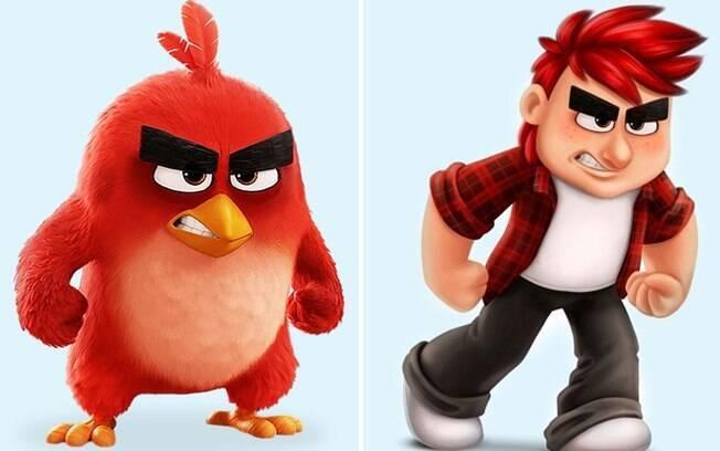 O pássaro vermelho do famoso jogo que deu origem ao filme.