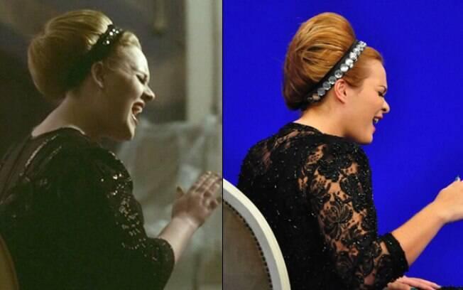 Adele inspira Geisy Arruda no quadro