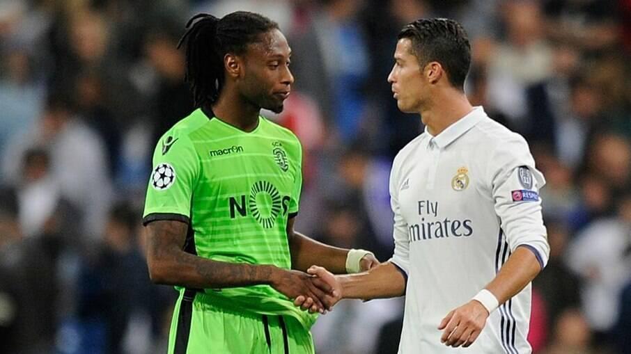 Semedo e Cristiano Ronaldo