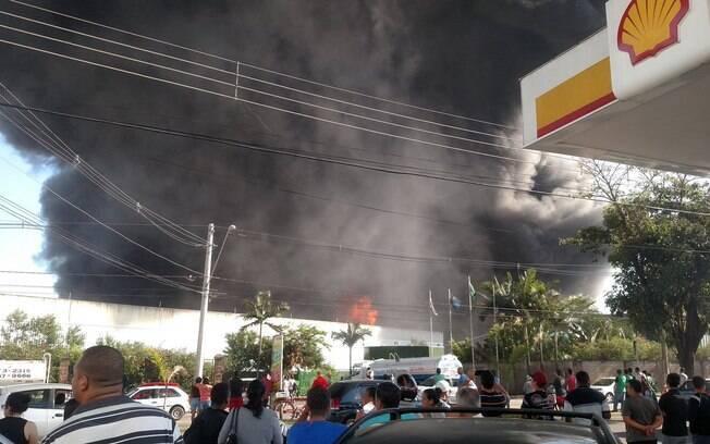 Fogo destrói empresa de logística no interior de São Paulo