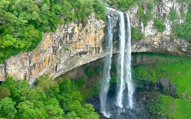A cascata do Caracol, em Canela, tem queda de 131 m. Foto: Divulgação