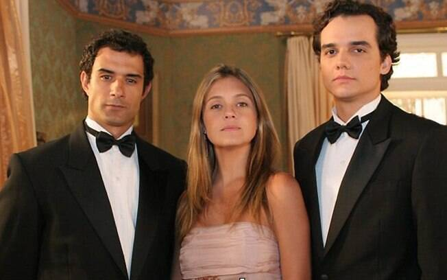 Marcos Pasquim, Adriana Esteves e Wagner Moura em