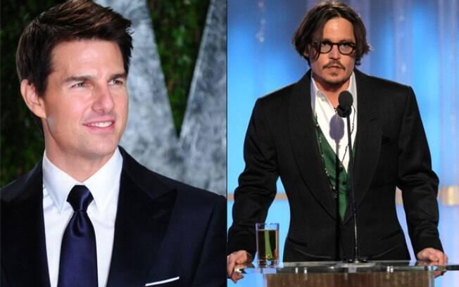 Tom Cruise e Johnny Depp, terceiro e quarto lugar na lista dos papais estilosos
