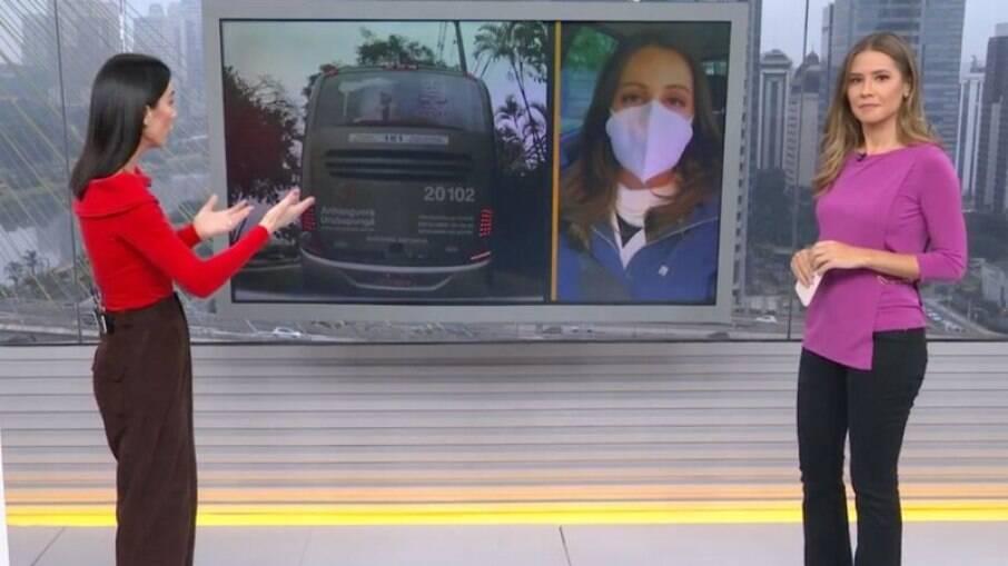 Repórter entrou ao vivo no telejornal após acidente