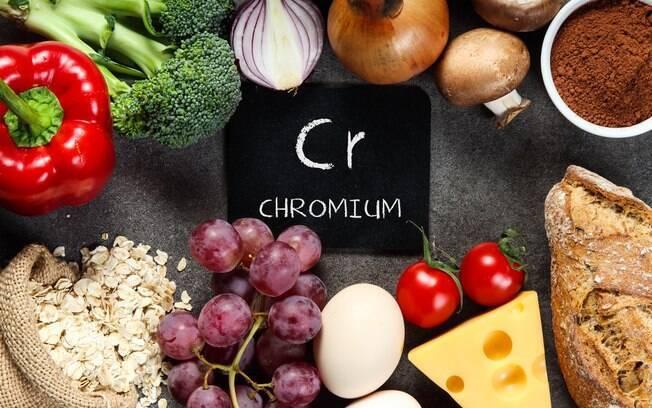 Sais minerais essenciais: em conjunto com a insulina, o crômio ajuda a controlar os níveis de açúcar no sangue