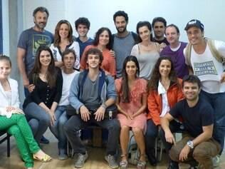 O elenco da novela