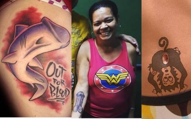 Tatuagens de pênis e ânus fazem sucesso nas redes sociais por serem inusitadas e engraçadas