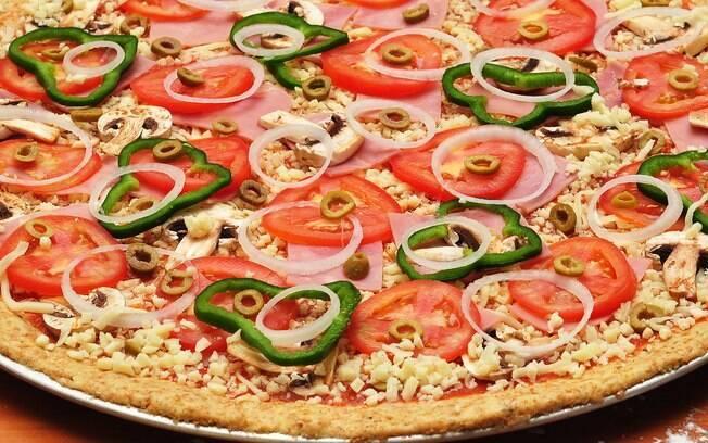 Foto da receita Pizza fit pronta.