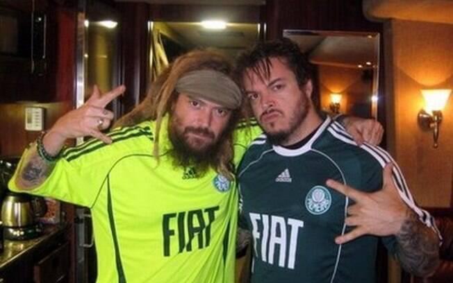 Os irmãos Igor e Max Cavaliera,  ex-integrantes do Sepultura, são torcedores do  Palmeiras